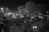 Farmers Protest by Driving Tractors Down Pennsylvania Avenue, Dec. 14, 1977 Photo