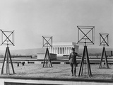 Antennas on the Roof of the US Army Radio Station in Washington D.C., 1924 Prints
