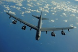 US Air Force B-52 Flies a Mission in Support of 2010 Rim of the Pacific Exercises Photographic Print