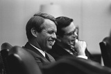 Sen. Robert Kennedy and Ted Sorenson after LBJ Withdrew from Presidential Race, 68 Posters