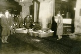 Triangle Shirtwaist Fire Victims in Coffins on the Sidewalk. March 15, 1911 Prints