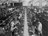 Men and Women Working on a Radio Assembly Line in Washington D.C. Area, 1925 Photo