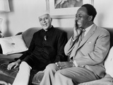 Indian Pm Minister Nehru and Ghana's Nkrumah of the Non-Aligned Movement, 1960 Posters