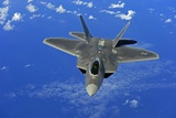F-22 Raptor Fighter, with Stealth Technology Flies Near Guam, 2010 Photographic Print