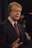 President Jimmy Carter Speaking During a Press Conference, Ca. 1977-1980 Photo