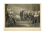 George Washington Presiding in the Constitution Convention in Philadelphia 1787 Prints