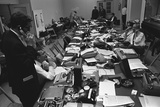 White House Press Room During President Lyndon Johnson's Gall Bladder Surgery, 1965 Photo