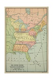 Map of Eastern North America with State Borders Extending to Mississippi, 1783 Prints