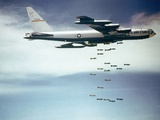 Us Air Force B-52 Dropping 750 Pound Bombs over Vietnam, Ca. 1965-1966 Photographic Print