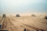 Abrams Tanks of the 1st Armored Division During Operation Desert Storm, Feb. 1991 Poster