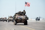 US Marines Roll into Kuwait International Airport, First Gulf War, Feb 27, 1991 Photo