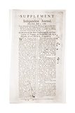 Headlines Announce Virginia's Ratification of the Constitution, July 2, 1788 Prints