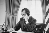 Richard Nixon on the Phone in the Oval Office, Ca. 1969-74 Photo