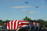 Helicopters Fly over a Military Funeral at Arlington Cemetery, Ca. 2010 Print
