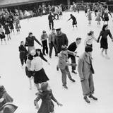 Ice Skaters at Rockefeller Center in New York City. December 1941 Posters