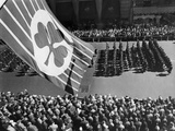 Flag with Shamrock Flies Above Fifth Avenue as Saint Patrick's Day Parade, 1961 Posters