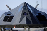 F-117 Nighthawk Taxis on the Runway before its Flight at Holloman AFB, 2007 Photographic Print