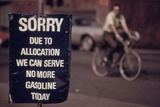 No Gas Sign During the Arab Oil Embargo after 1973 Yom Kipper War Photo