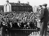 Strikers at the Royal Albert Docks, Show Confidence for Leader Thomas Powell, 1945 Photo