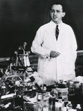 Jonas E. Salk, American Developer of the First Polio Vaccine, Ca. 1955 Print