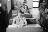 Students of Various Ages Seated at their Desks in a Rural Wisconsin School, 1939 Posters