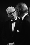 Chief Justice Earl Warren Speaking with President Lyndon Johnson, May 11, 1968 Photo