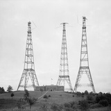 Radio Broadcasting Towers Were New to the American Landscape in the 1910s Photo