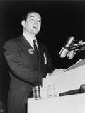 Hubert Humphrey Making His Historic Civil Rights Speech at 1948 Democratic Convention Print