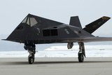F-117 Nighthawk Stealth Fighter at its Retirement Ceremony, Ohio, 2009 Photographic Print