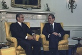 President Nixon and the Shah of Iran Meeting in the Oval Office. July 24 1973 Photo