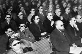 British Audience Wears Smoke-Colored Glasses to View a 3-D Movie in 1954 Prints