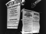 WW II Notices in San Francisco About Air Raid Shelters and Japanese Internment, 1942 Photo