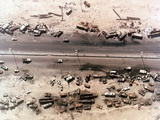 Destroyed Iraqi Vehicles on the 'Highway of Death', in First Gulf War, Feb. 1991 Photographic Print