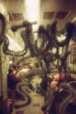 View Through a Graffiti Fogged Window into a New York City Subway Car, May 1973 Photo