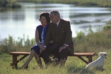 Lady Bird and President Johnson Sit Outdoors on the LBJ Ranch, Sept. 30, 1967 Prints