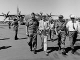 Bob Hope, Walks with Generals at Pleiku Air Base, South Vietnam, Dec. 19, 1966 Photo