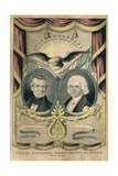 Democratic Ticket in Presidential Election of 1844, James Polk and George Dallas Prints