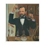Louis Pasteur French Chemist and Microbiologist, in His Laboratory, Ca. 1880s Premium Giclee Print