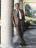 President Reagan on the White House Colonnade. August 17 1984. Po-Usp-Reagan_Na-12-0065M Prints