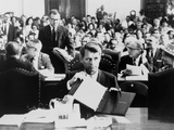 Atty, Gen. Robert Kennedy Testifying on the Civil Rights Bill in June 1963 Photo