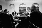 Lyndon Johnson Meeting with Civil Rights Leaders at the White House, March 16, 1966 Photo