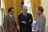 President Gerald Ford with Donald Rumsfeld and Richard Cheney, April 28, 1975 Posters