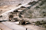 Iraqi Armored Column During Operation Desert Storm, Mar. 4 1991 Photographic Print