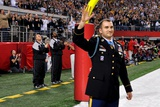 Medal of Honor Winner Army Staff Sgt. Salvatore Giunta at Super Bowl 45 Posters
