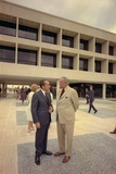 President Nixon Standing with Lyndon Johnson Outside the Lbj Library in Austin Texas. May 22 1971 Posters