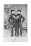 Chang and Eng, World Renowned United Siamese Twins, 1860 Print Poster