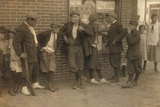 Street Gang of Cigarette Smoking Youths in Springfield, Ma. 1916 Photo