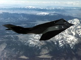 F-117A Nighthawk First Operational Aircraft Designed with Stealth Technology, 1983 Photo