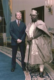 Jimmy Carter with Nigerian General Olusegun Obasanjo at the White House, Oct. 1977 Print