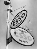 Esso Gasoline Dealer Sign on Chestnut St. in Philadelphia in 1939 Photo